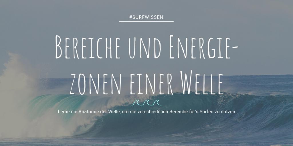 Bereiche einer Welle, EneRgiezonen, Surfen