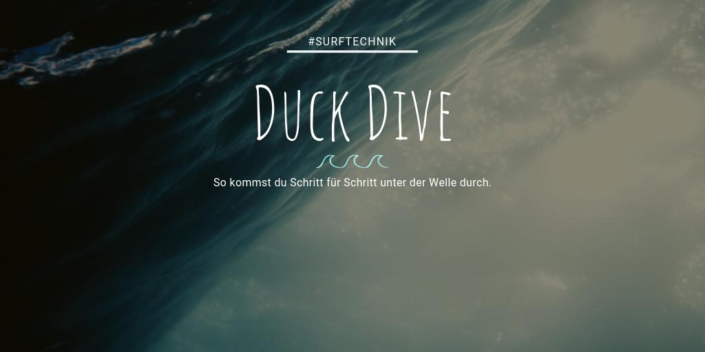 Tipps für den Duck Dive - Schritt für Schritt so geht der Duckdive