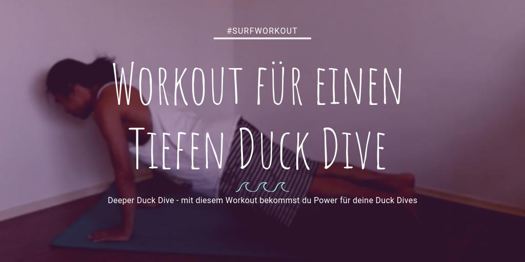 Surf Workout für besseren Duck Dive Surfen