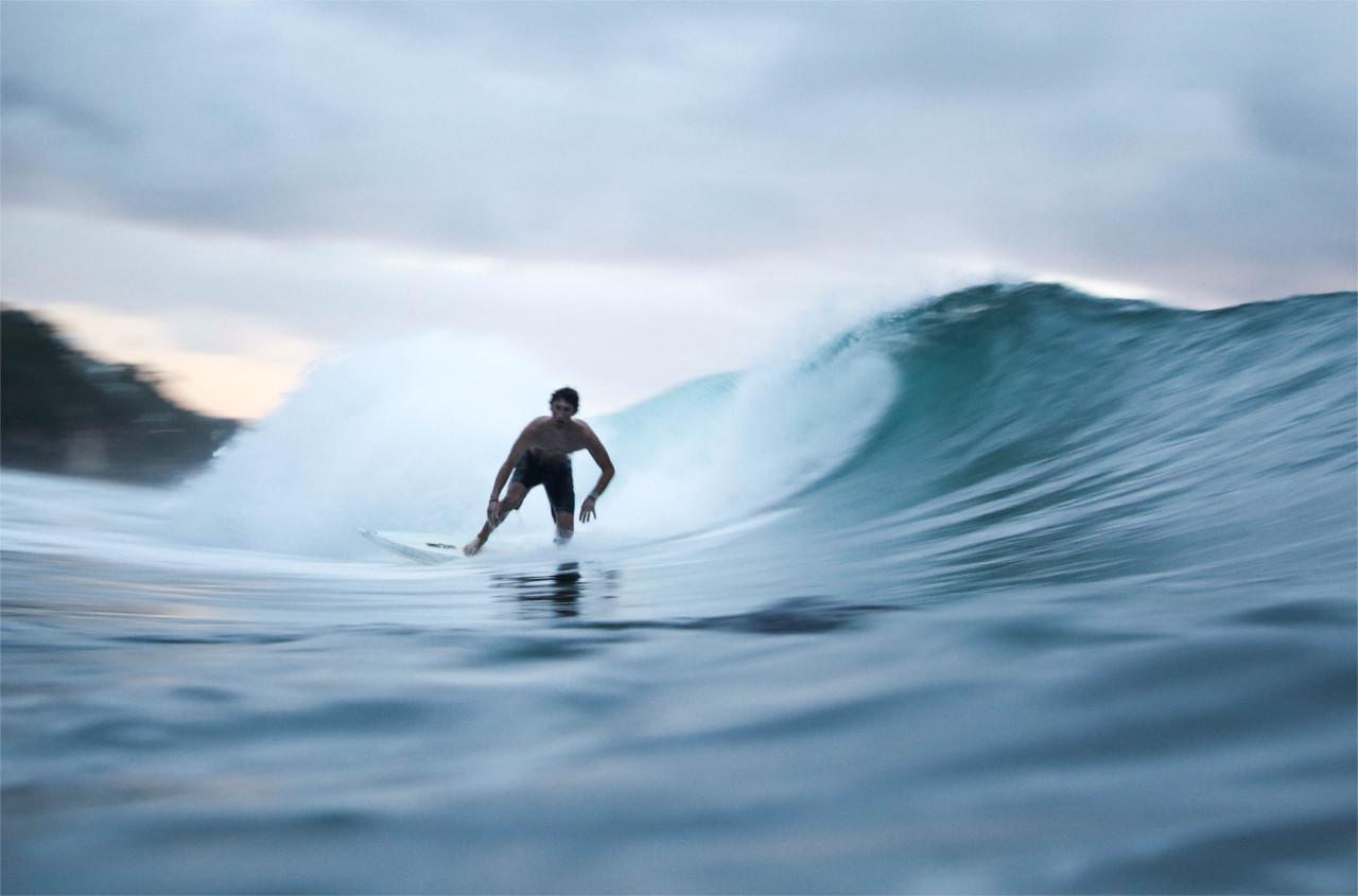 Forehand Bottom Turn und Backhand Surf Surfen Tutorial