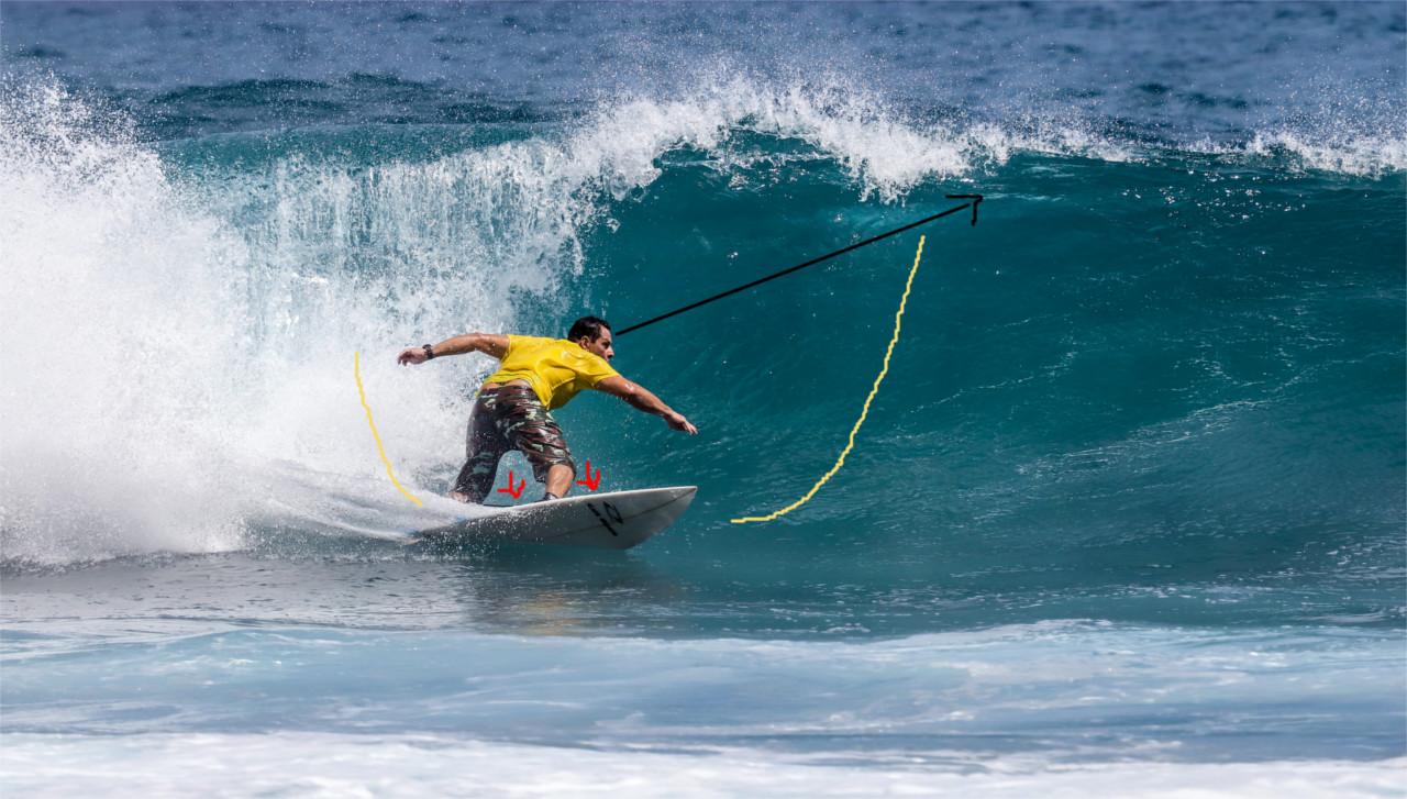 Tipps für den Bottomturn Surfen Surfmanöver Surftechnik