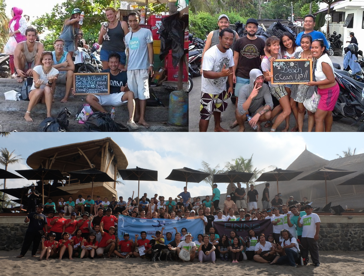Beach Cleaning viele Teilnehmer organisieren