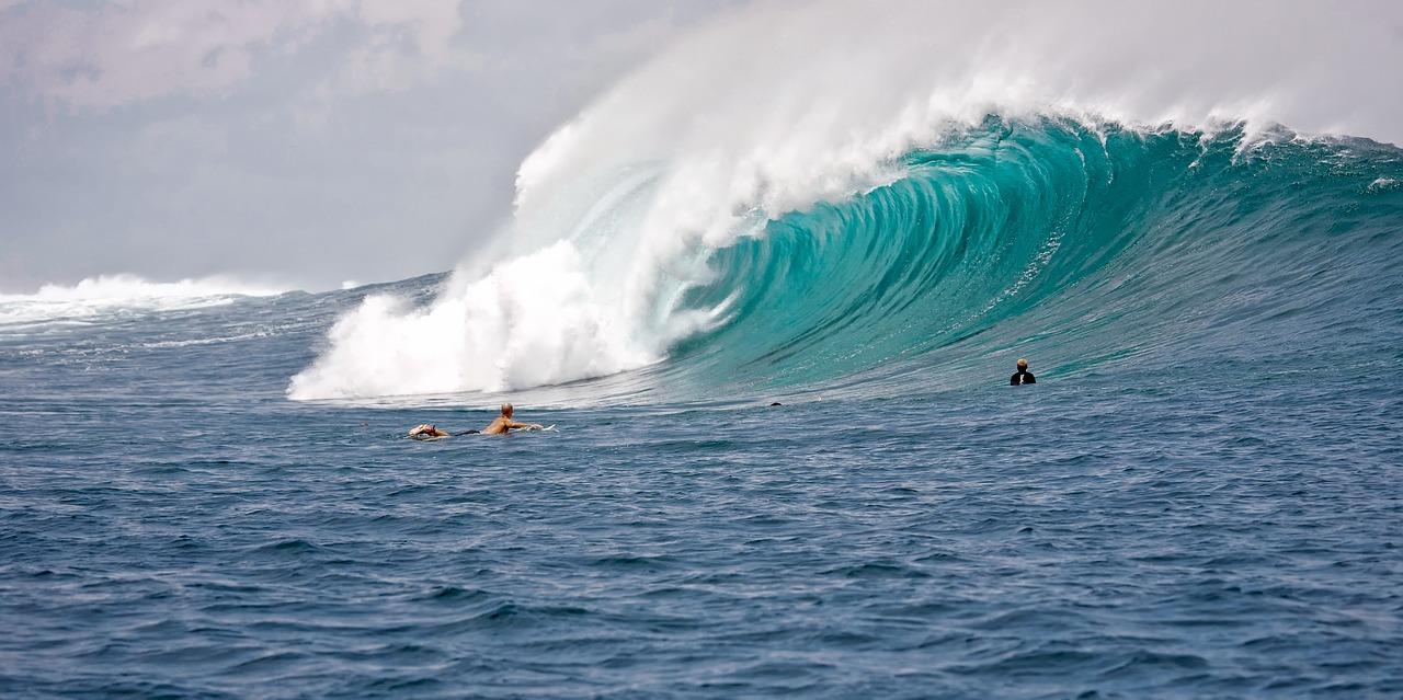 Wellenreiten surfen loslassen