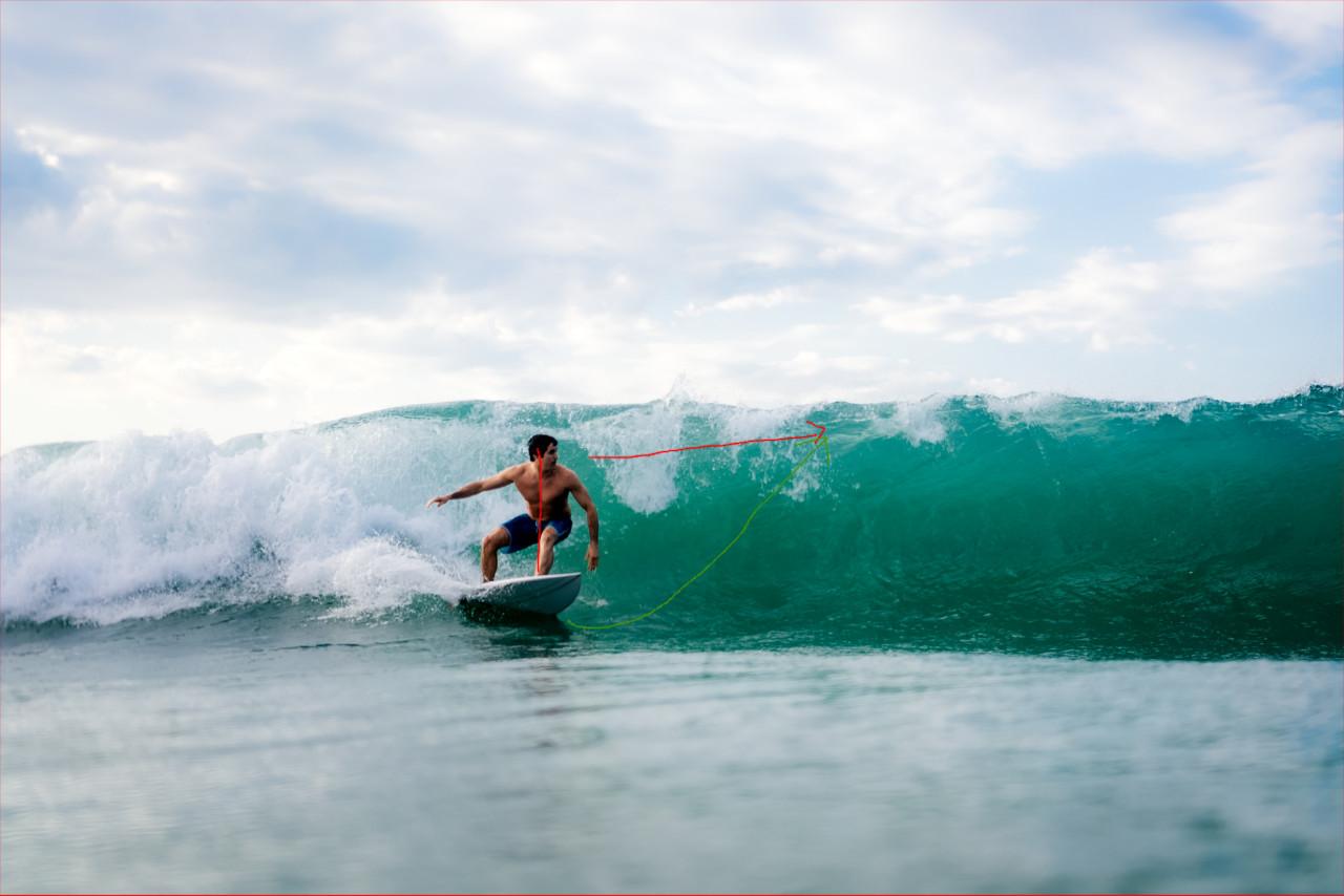 Wie geht der Top Turn beim Surfen