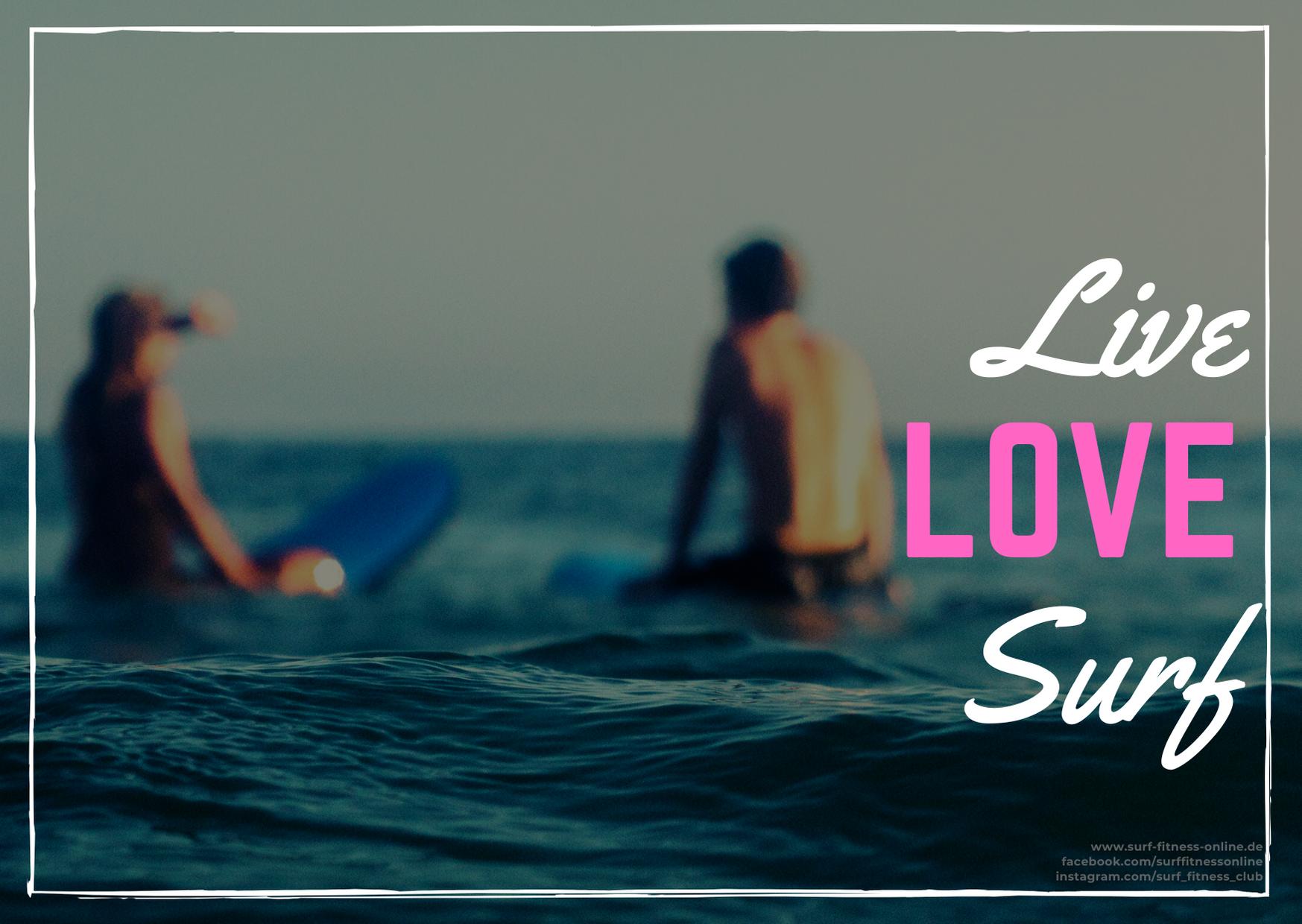 Surfer Valentinstag