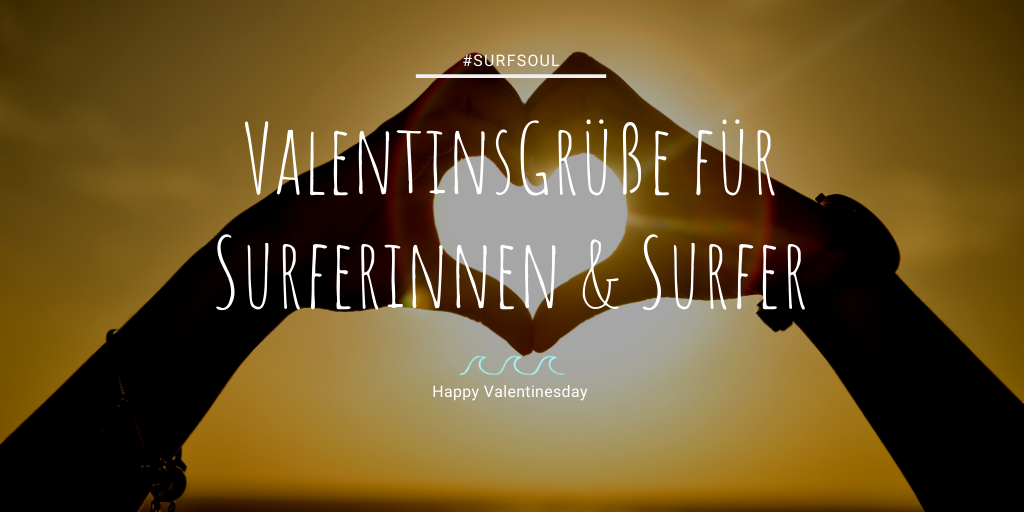 Valentinstag Surfer