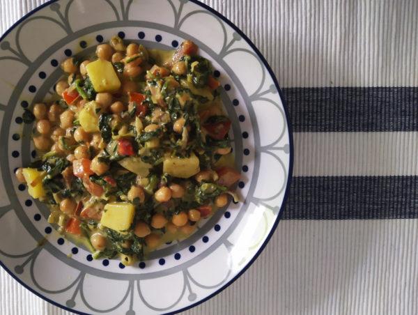 Spinat Kartoffeln nach indischer Art 1