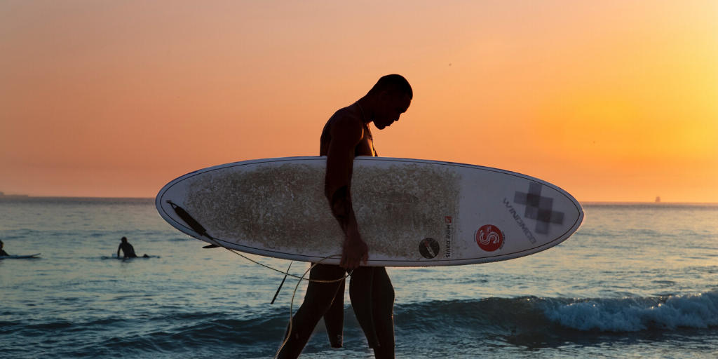Positiver Fokus nach frust beim Surfen