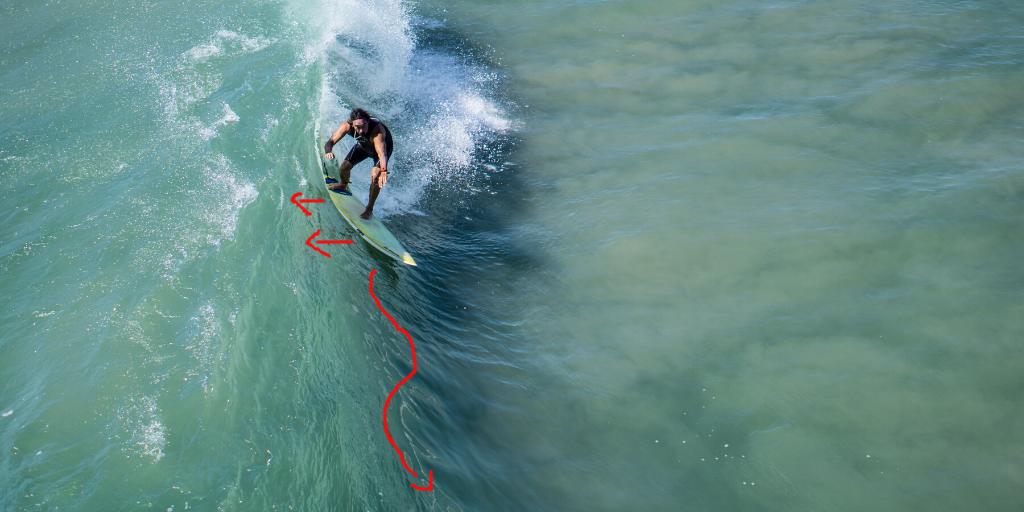 Pumpen beim Surfen für mehr Speed