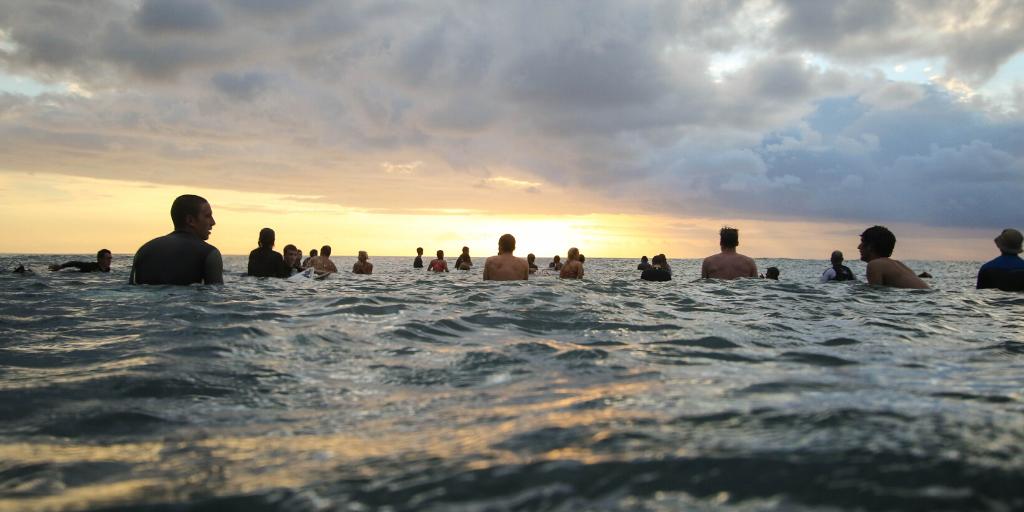 Positiver Fokus beim Surfen