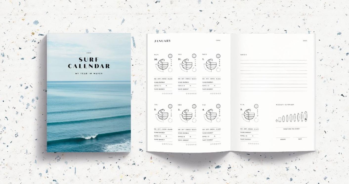 Surf Kalender Gezeiten bei Surfen