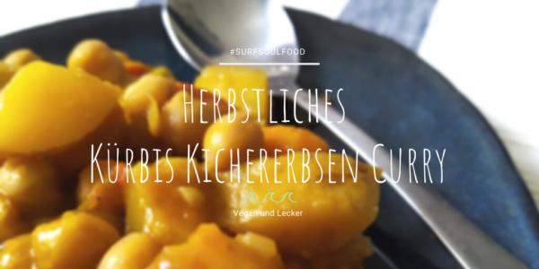 Herbstliches Kürbis Kichererbsen Curry