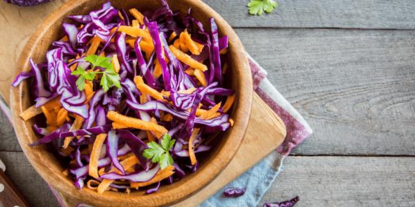 Rotkohl Salat (Vegan) 2