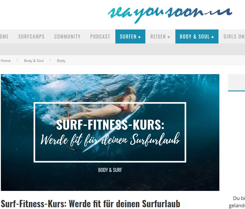 Surf Workout Seayousoon