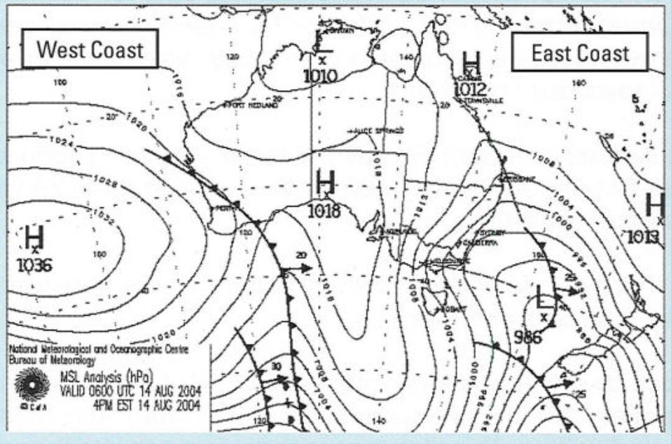Wetter Surfen Wetterkarte lesen