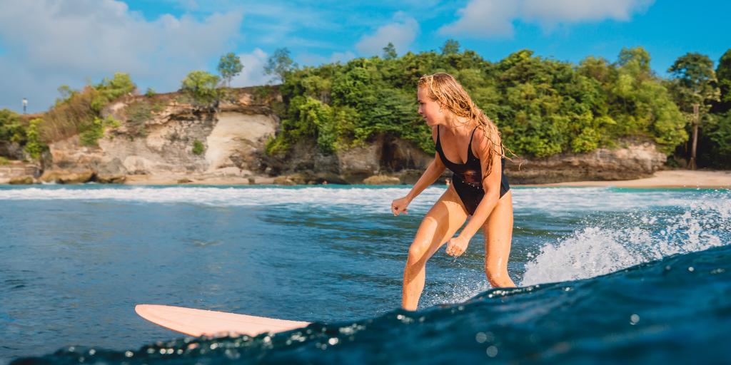 Positive Selbstgespräche Surf Mentaltraining