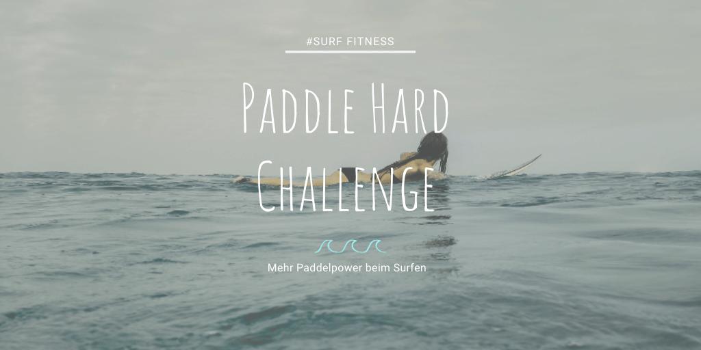 Paddle Hard Challenge Paddeln trainieren see