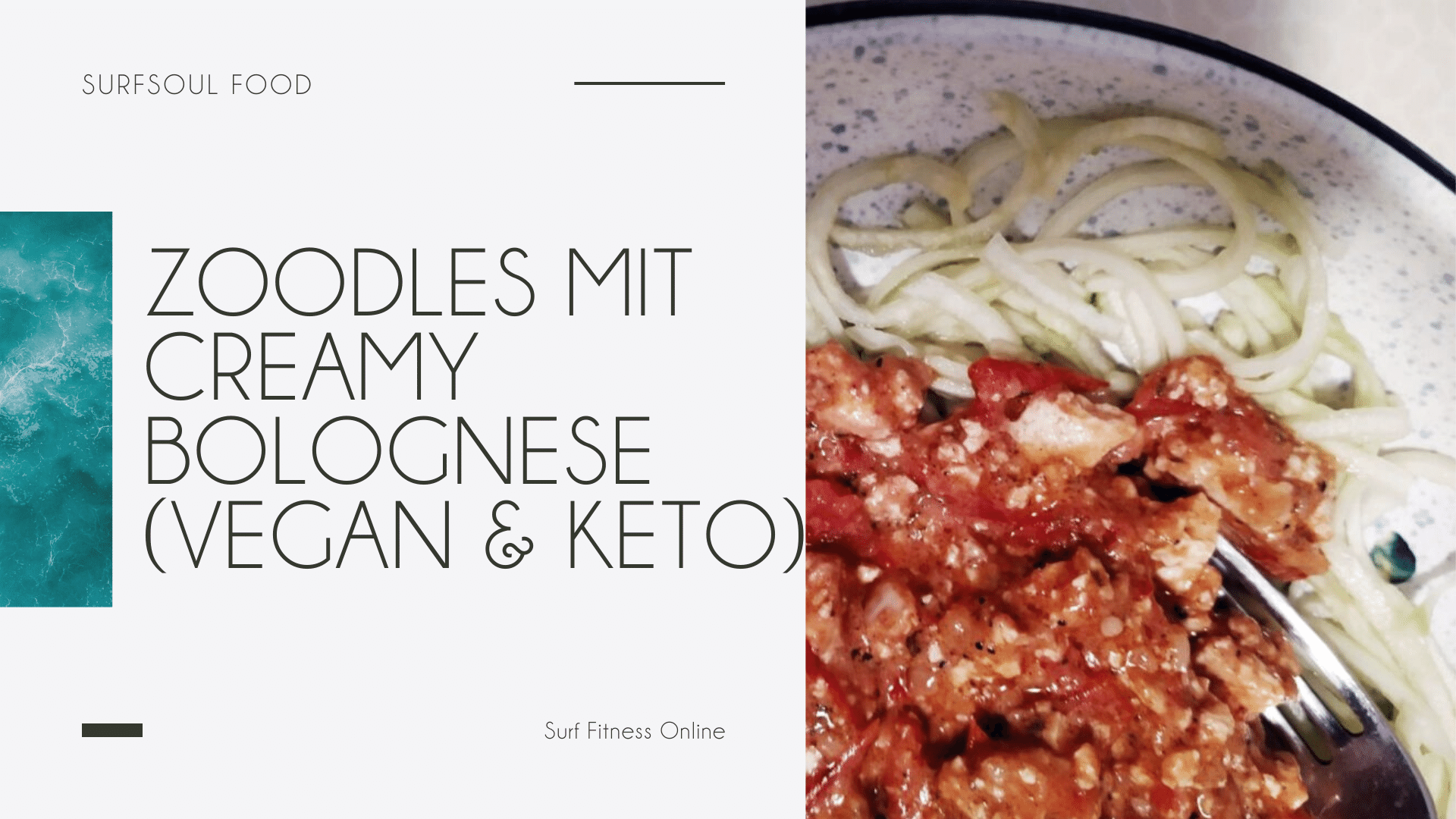 Zoodles in Creamy Bolognese (Vegan & Keto) 1