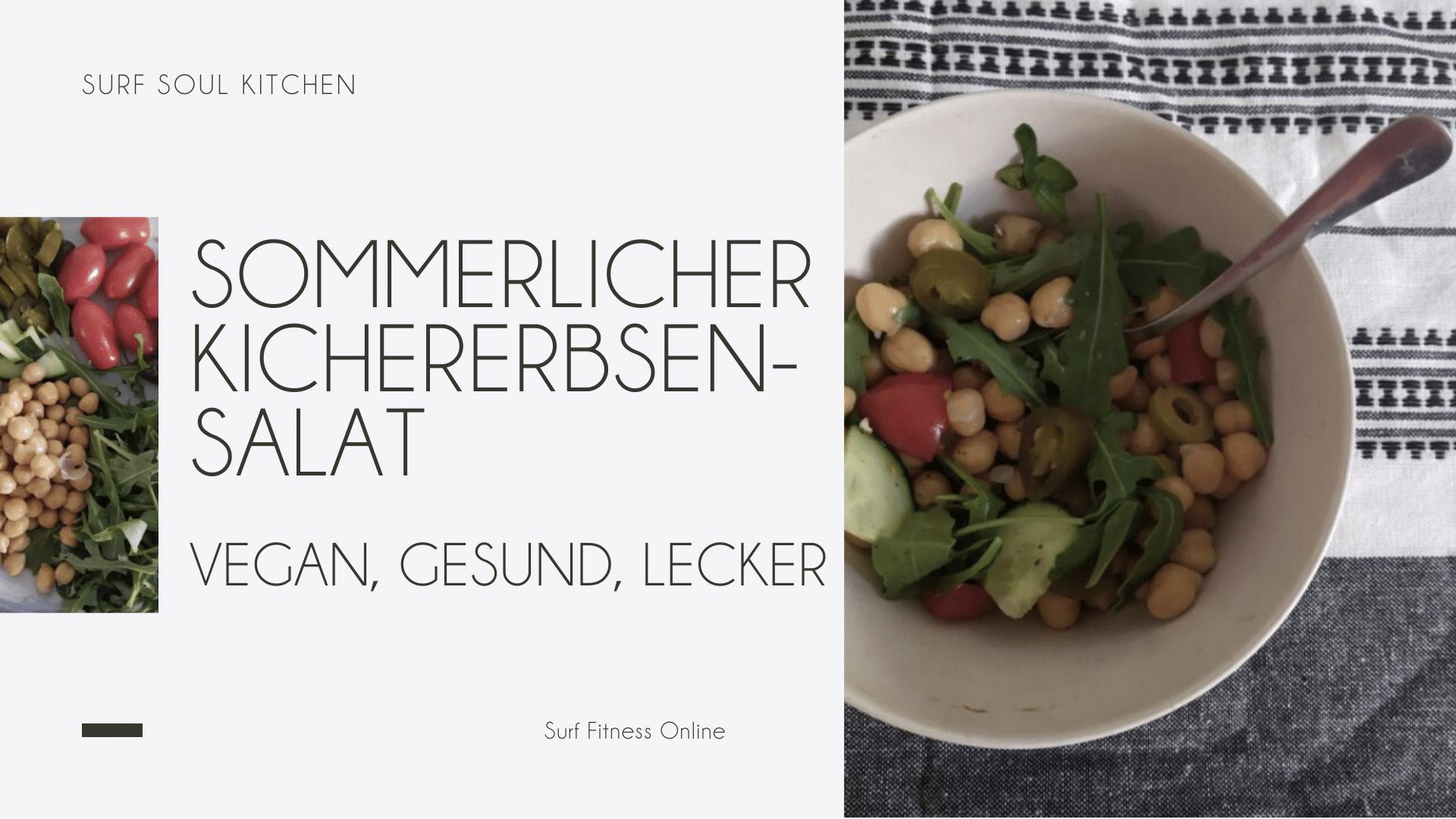 Sommerlicher Kichererbsensalat zum Grillen, vegane Grillrezepte