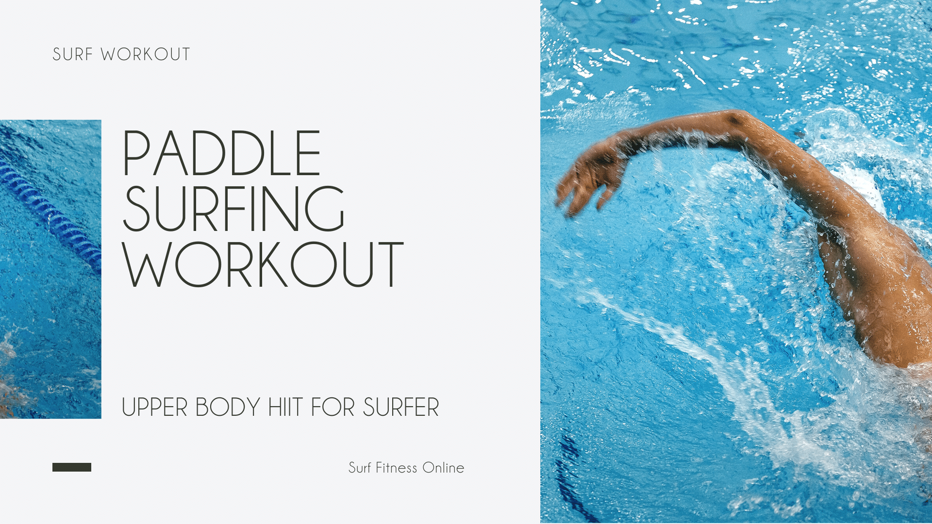 Paddle Surfing Workout Upper Body HIIT for Surfer